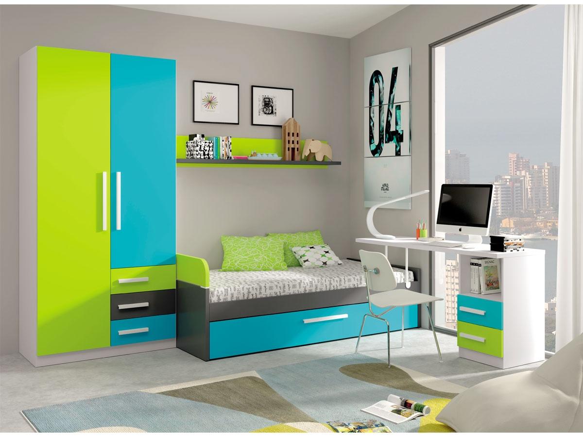 Cama nido para cama 90x190 142 - Muebles de dormitorio blancos ...