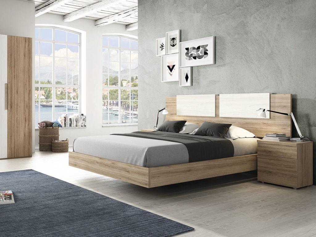 Dormitorio roble blanco - Armario madera blanco ...