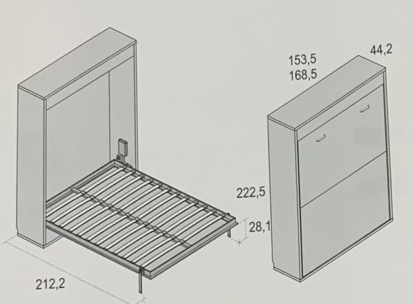 Cama abatible vertical · cama matrimonio · MLC Muebles · Tienda de muebles · Tienda online · Tienda de muebles en Tenerife · Canarias